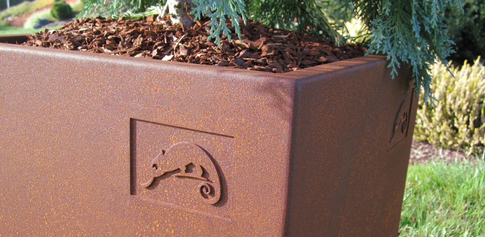 Corten Steel Decorative Planter